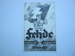 1937 ,  HJ , Propagandakarte , Verlag In Freudenstadt , Recht Selten - Briefe U. Dokumente