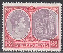 ST KITTS -NEVIS    SCOTT NO.  84     MINT HINGED     YEAR  1938 - St.Kitts En Nevis ( 1983-...)