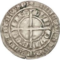 France, Flandre, Louis II De Male, Gros Au Lion, TTB+, Argent, Boudeau:2230 - 476-1789 Monnaies Seigneuriales