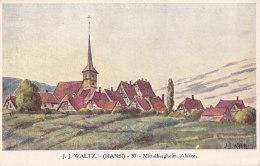 Cpa Illustrée JJ WALTZ (HANSI) - Mittelbergheim - Alsace - Hansi