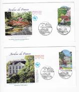 Enveloppes  1er Jour FDC 2006 2 Enveloppes Jardins De France - FDC