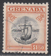 GRENADA      SCOTT NO.  182     USED    YEAR  1953 - Granada (...-1974)
