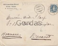 Switzerland - Arosa - Alexandra Hotel - Envelope - 1905 - Pubblicitari