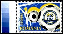 ROMANIA 2004** - FIFA - 100 Years - 1 Val. MNH Come Da Scansione - Calcio