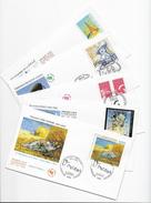 Enveloppes  1er Jour FDC 2004 5 Enveloppes Van Gogh,Dali,sida,emission France/Canada,F.F.A.P - FDC