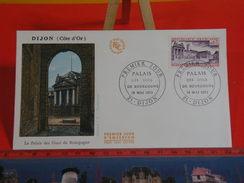 FDC > 1970-1979 > Palais Des Ducs De Bourgogne - 21 Dijon - 19.5.1973 - 1er Jour. Coté 2 € - FDC