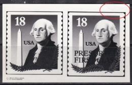 "Photo Essay, USA Sc2149-49a George Washington (1732-99), ""Look In Red Circle"" Essai - George Washington"