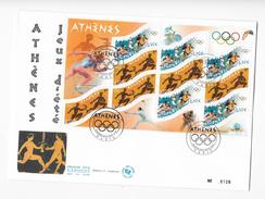 """Enveloppes  1er Jour FDC 2004  Grande Enveloppe """"Athenes Jeux D'été"""" - 2000-2009"""