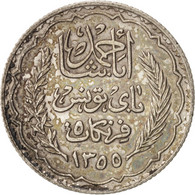 Tunisie, Ahmad Pasha Bey, 5 Francs, 1936, Paris, SUP, Argent, KM:261 - Tunisie