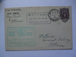 CANADA 1928 FLIGHT COVER MONTREAL TO OTTAWA WITH VARIOUS CACHETS - 1911-1935 George V