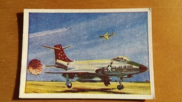 CARDMASTER GUM CARDS  - JETS -  McDONNELL F 101 A VOODOO N. 42 - Confectionery & Biscuits