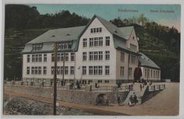Niederurnen - Neues Schulhaus - Animee Belebt - Photo: Schönwetter-Elmer No. 359 - GL Glaris
