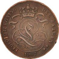 Belgique, Leopold II, Centime, 1907, TTB+, Cuivre, KM:34.1 - 1865-1909: Leopold II
