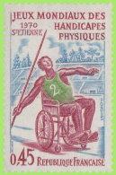 France 1970. ~ YT 1649** - Jeux Mondiaux Handicapés Physiques - Neufs