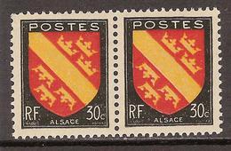 France Variété N° 756 ** Signature Droite (timbre Droit) - Neufs