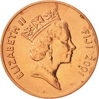 Fiji, Elizabeth II, 2 Cents, 2001, SPL, Copper Plated Zinc, KM:50a - Fidji