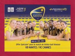 Cart´com.     Sport.  Volley-ball Féminin.  Nantes-Cannes.  12/2016 - Volleyball