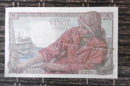 BILLET DE COLLECTION  VINGT FRANCS PECHEUR  8.1 CM X 13 CM  29.1.1948  PARFAIT ETAT - 20 F 1942-1950 ''Pêcheur''