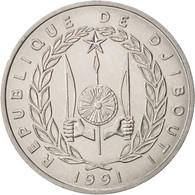 Djibouti, 5 Francs, 1991, Paris, FDC, Aluminium, KM:22 - Djibouti