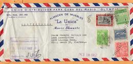 Cuba 1952 Cover Mailed To USA - Brieven En Documenten
