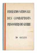 CARTE FEDERATION NATIONALE DES COMBATTANTS PRISONNIERS DE GUERRE 1948 DEPT DE LA SEINE 4 VIGNETTES - Documents