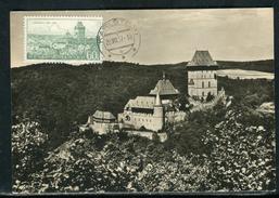 Tchécoslovaquie - Carte Maximum 1957 Karlstejn - Tchécoslovaquie