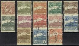 DO 5145 SAN MARINO  SCHARNIER + GESTEMPELD YVERT NRS 68/80 COTE € 40,00 ZIE SCAN - Stamps