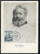 Tchécoslovaquie - Carte Maximum 1954 Yan Neruda - Tchécoslovaquie