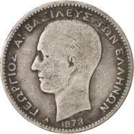 Grèce, George I, Drachma, 1873, Paris, TB, Argent, KM:38 - Grèce