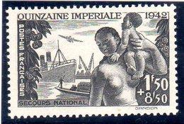 """FRANCE OEUVRES DIVERSES - 1942: """"Au Profit Du Comité De Propagande De La Quinzaine Impériale"""" - N° 543** - Unused Stamps"""