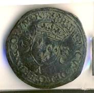 MONNAIE HENRI II # DOUZAIN AUX CROISSANTS # - 1547-1559 Henri II