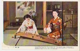 Japon        16        Musician Playing The Girls At The Koto And Samisen...... - Japan