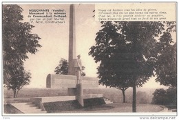 (petit Moirage Scan) -85- MOUCHAMPS . Monument à La Mémoire Du Commandant Guilbaud  Neuve Excellent état - Autres Communes