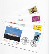 """Enveloppes  1er Jour FDC 2004 4 Enveloppes """"Paquebot Queen Mary 2,Invitation,un Grand Merci,c'est Un Garçon - FDC"""