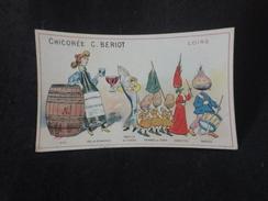 Chromo  6,5 X 10,5.  Département Loire . Pub Chicorée Beriot. Idéal Pour Début D ' Album . Fait Titre. 2 Scans. - Unclassified