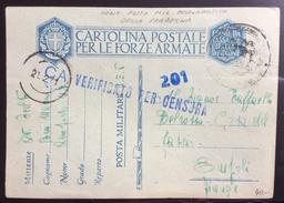 POSTA MILITARE AERONAUTICA DELLA SARDEGNA CARTOLINA CON CENSURA DA MONSERRATO IL 20/2/41 - 1900-44 Vittorio Emanuele III