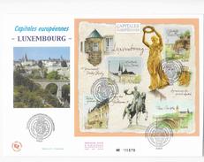 Enveloppes 1er Jour FDC 2003 .  Enveloppe Capitales Européennes Luxembourg - 2000-2009