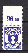 Danzig 1921,1V,Mi 84F Mit Oberrand ,ohne Rosettenunterdruck.MNH/Postfrisch(D2417) - Danzig