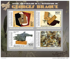 CENTRAL AFRICA 2013 - G. Braque, Pablo Picasso - YT 2730-3; CV = 20 € - Picasso
