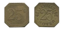 N2946 - Paris: Bellevilloise Boyer: 25 Ct - Monetari / Di Necessità