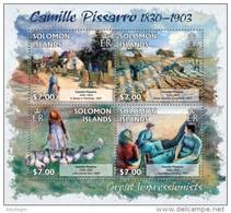 SOLOMON Isl. 2013 - C. Pissarro, Geese - YT 1527-30; CV = 12 €