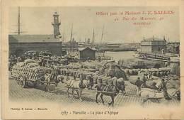 Dpts Divers-ref-LL594- Bouches Du Rhone - Marseille - Place D Afrique - Publicite Maison Salles - 42 Rue Des Minimes - - Marseille