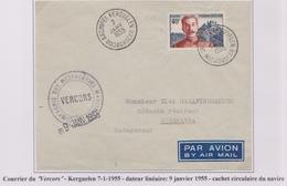 TAAF - Iles Australes - Kerguelen - Vercors - Messageries Maritimes - Dateur Linéaire - ...-1955 Prephilately