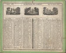 ALMANACH DE CABINET 1833 - Calendriers
