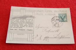 Lago Maggiore Castelli Cannero Verbano Cartolina Pubblicitaria Del Lysoform 1905 - Altre Città