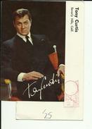 TONY CURTIS  --  PHOTO ORIGINAL 14 Cm X 9 Cm  --   AUTOGRAFO  --   SIGNED  --   WITH ENVELOPE - Autogramme