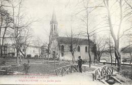 Roquecourbe (Tarn) - Le Jardin Public Et L'Eglise - Phototypie Tarnaise Poux, Albi - Roquecourbe