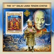 SIERRA LEONE 2016 - Dalai Lama S/S. Official Issue. - Buddhism