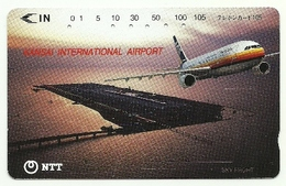 Giappone - Tessera Telefonica Da 105 Units T201 - NTT, - Avions