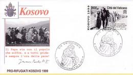 Vatikan, 1999. Mi: 1283. Flüchtlinge Kosovo - Lettres & Documents